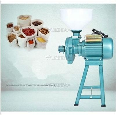 220V Rice Wheat Feed Mill Corn Grain Wet Dry Grinder Animal Poultry Q
