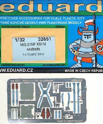 eduard - MiG-21MF KM1M seatbelts Etched parts Edging kit 1:32 Trumpeter NEW