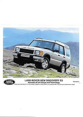 Land Rover 'new' Discovery Es Original Press Photo 'brochure Connected'