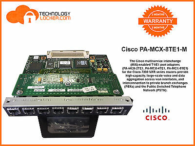Cisco PA-MCX-8TE1-M Mixed Enable MODULES T1/E1 SS7 LINK PA FOR ITP