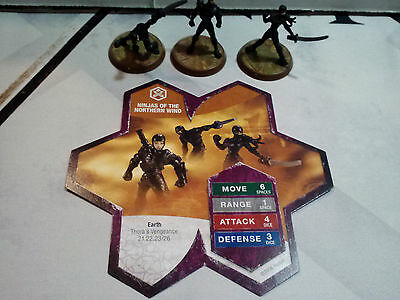 Heroscape Ninjas of the Northern Wind with Card Hero Scape