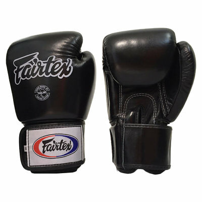 Fairtex BGV1 Tight Fit Universal Muay Thai / Boxing Gloves Black