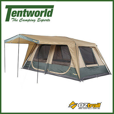 OZtrail Cruiser 450 Cabin Fast Frame 10 Man / Person Instant Up Camping Tent