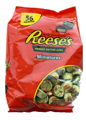 New Reese's Miniatures Milk Chocolate Peanut Butter Cups 1.58kg Bag Hersheys