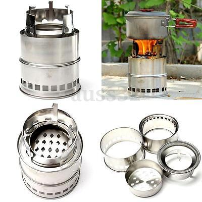Ultralight Wood Gas Backpacking Burning Camping Picnic Stove Emergency Survival