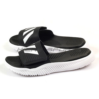 f22b49ce3 Adidas Alphabounce Slide White Black White Lifestyle Sandals Slippers BA8775