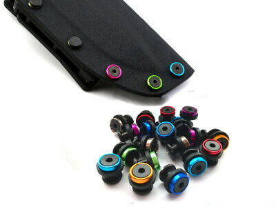 "0.28""(7.0mm) colorful Chicago Screws Black for 5mm hole knife or Kydex Holster"