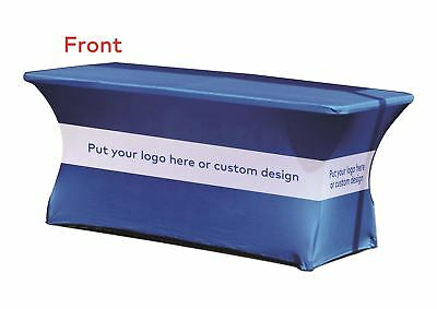 Stretch Fit Custom Printed Table Cover + 4ft Folding Table For Exhibits