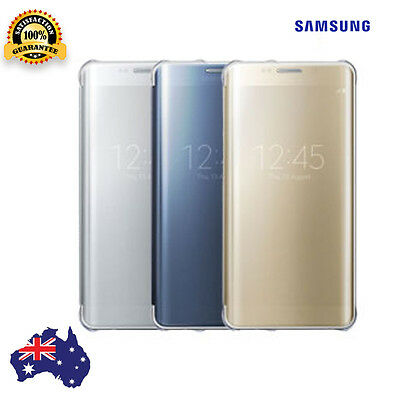 Samsung Galaxy S6 Cover Clear Flip Case Slim Protective Genuine Cover