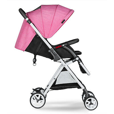 Besrey Poussette Canne Bebe  Inclinable Pliage Compact 6 à 36 mois rose