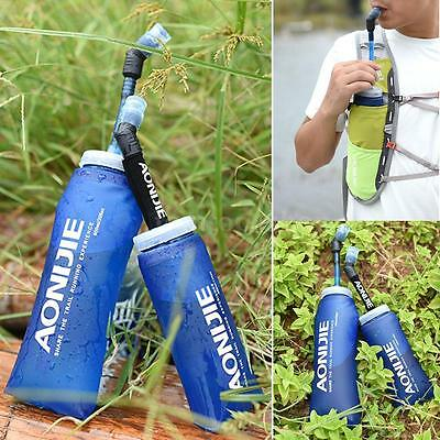 Collapsible Bpa Free Soft Portable Water Bottle Soft Flask Hydration Bottle H4L3