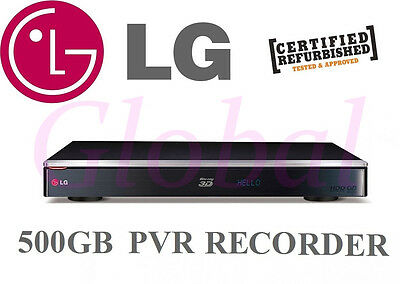 LG TWIN HD TUNER 500GB PVR RECORDER 3D Blu Ray DVD WiFi PLAYER COMBO HR936T