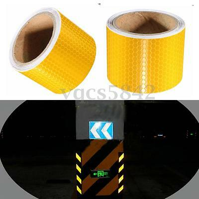 3Metre Yellow Conspicuity Reflective Tape Safety Warning Film Sticker Roll Strip