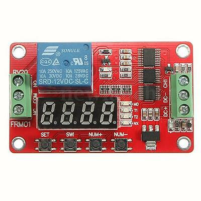 12V FRM01 Relay Cycle Timer Module Board PLC Home Delay Multifunction Self-lock
