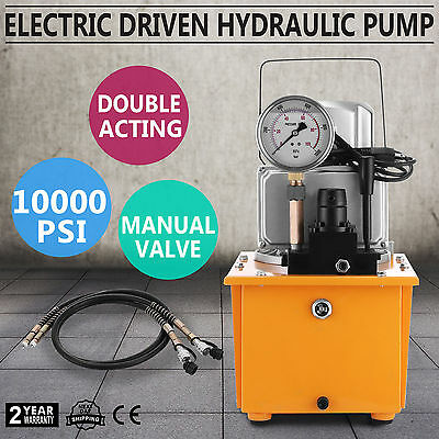 Electric Driven Hydraulic Pump 10000 PSI (Double acting manual valve)