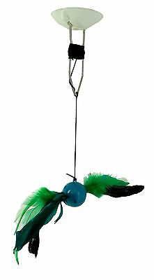 Hydronic Top Ceiling Mount Cat Toy With Feathers Interactive And Colourful