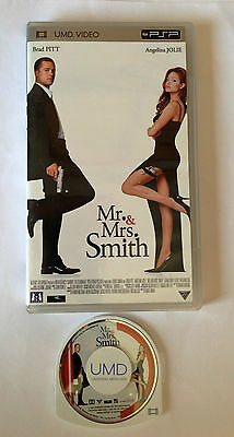 Mr & Mrs SMITH BRAD PITT & ANGELINA JOLIE UMD VIDEO SONY PSP DISQUE COMME NEUF