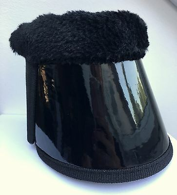 Bell boots with Fur edge, black lacquer Size L COB/VB limited Edition