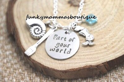 The Little Mermaid Part Of Your World Charms Necklace Seashell Fork