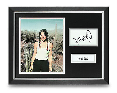 KT Tunstall Signed Photo Framed 16x12 Music Autograph Memorabilia Display +#COA