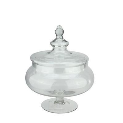 NorthLight 15 in. Rotund Transparent Glass Jar with Finial Topped Lid