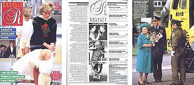 Royalty Monthly magazine October 1986 Diana Charles William Harry Queen Mother