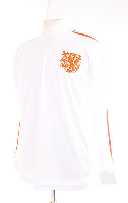 Holland 1974 World Cup Large Away White Cruyff Number 14 Football Shirt Large L