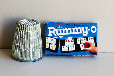 Dollhouse Miniature Rummy-0 Game Box 1970s Dollhouse game box toy 1:12 scale