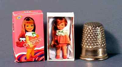 Dollhouse Miniature Cinnamon Doll Box 1960s Crissy family mod dollhouse toy 1:12