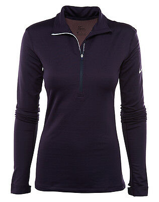 Nike Pro Hyperwarm Womens 803120-524 Purple Dri-Fit Training Top Shirt Size S