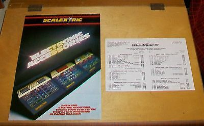 SCALEXTRIC PRICE LIST 5th January 1981 + ELECTRONIC ACCESSORIES LEAFLET