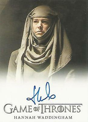 "Game of Thrones Season 5 - Hannah Waddingham ""Septa Unella"" Autograph Card"