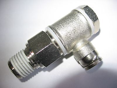 "Numatics INB135C-104-021 Angle Pneumatic / Air Flow Control 1/4"" Tube x 1/4"" NPT"