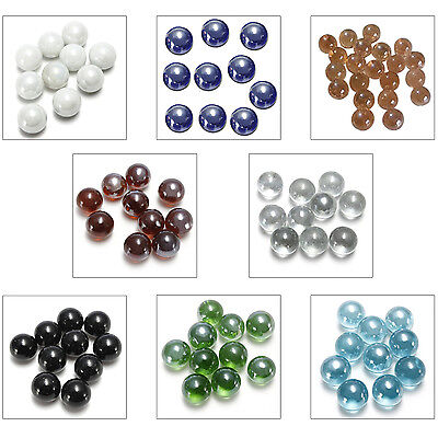 10x Marbles 16mm glass marbles Knicker glass balls decoration toy Dark Brown FK