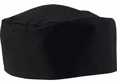 Black Chef Hat - Adjustable Velcro. One Size Fit Most.