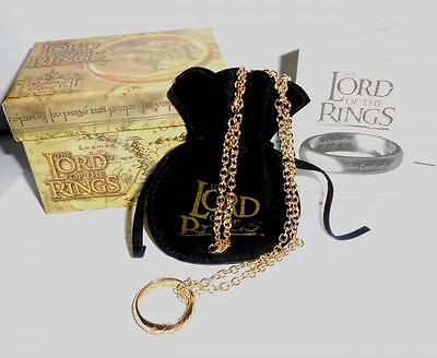 Lord of the Rings The One Ring 24k Gold Plated Red Enamel 21mm