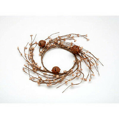 Rusted Bell & Berries Grapevine Twig Wreath - 8 inches - Rustic Wall Decor