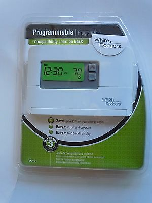 New White-Rodgers P200 5-1-1 Programmable Single Stage Thermostat