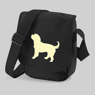Cockapoo Bag Silhouette Messenger Bag Cockerpoo Shoulder Bags Birthday Xmas Gift