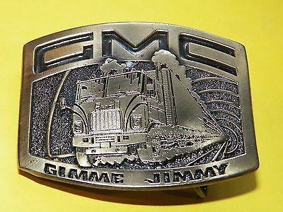 GMC 'Gimme Jimmy'  vintage 1976 Limited Edition belt buckle made in USA !  #431