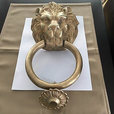 Brass Or Bronze Lion Head Door Knocker Italy 18Th Century