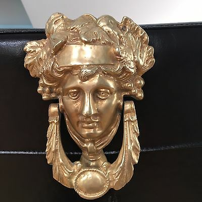 "Brass Or Bronze Versace Head Style, Door Knocker ""dionysus Face"""
