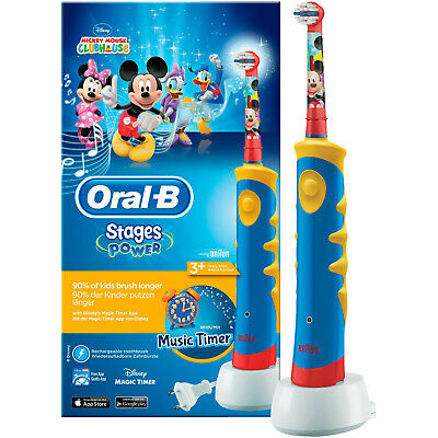 ORAL-B Stages Power Advanced Mit Micky Maus, elektrische Zahnbürste für Kinder,