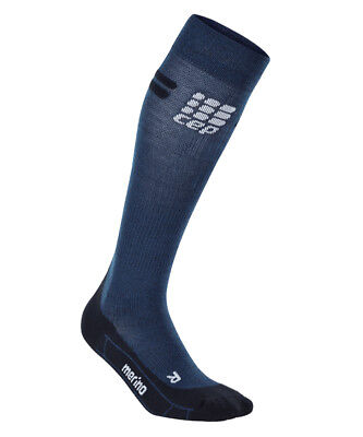 CEP Women's Progressive+ Run Merino Socks Navy Size 2