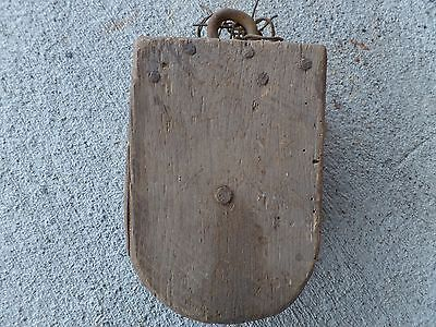 Antique Vintage Cast Iron Barn Pulley Old Farm Tool Rustic Primitive Steampunk