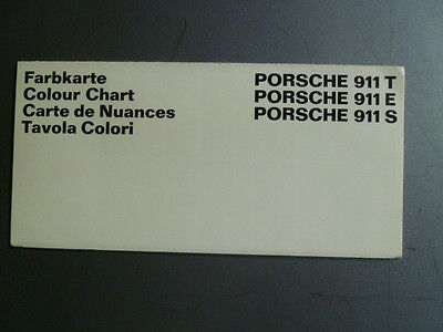 1969 Porsche FACTORY issued Color Chart Folder / Brochure RARE!! Awesome XLNT