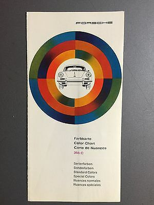 1964 Porsche FACTORY issued Color Chart Folder / Brochure RARE!! Awesome VG+