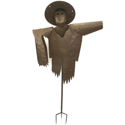 Scarecrow Garden Stake Metal Art Iron Rustic Ornament Sculpture BIG 170cm