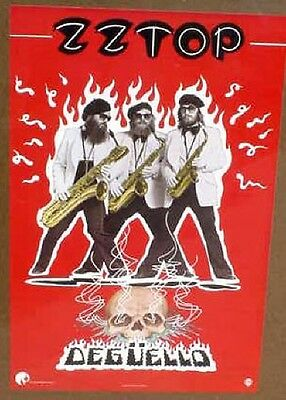 ZZ Top ZZTOP 1979 poster DEGUELLO  mint FLAWLESS CONDITION