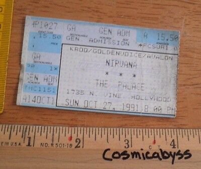 Nirvana The Palace concert ticket 1991 KROQ Los Angeles HOLE Dave Grohl
